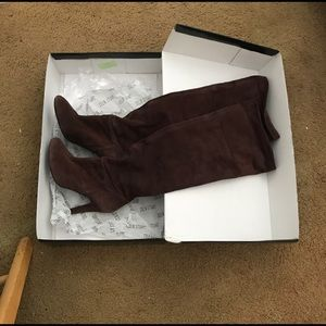 Colin Stuart Chocolate Suede Over The Knee Boot